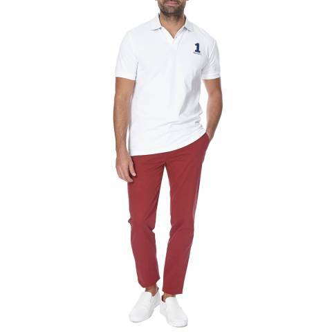 HACKETT London Red Kensington Slim Boys/Mens Chino Trousers - Stockpoint Apparel Outlet