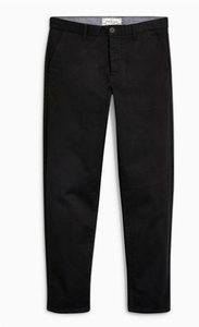 Next Mens Black Tapered Fit Stretch Chinos