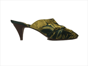 Next Green Fabric Mules Womens Sandals