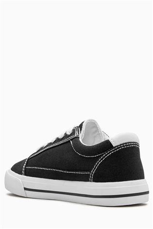 Next Boys Black Skate Lace-Up Shoes