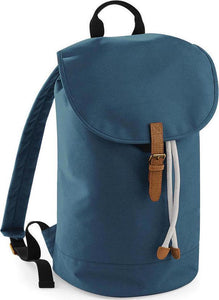Bagbase Classic Drawcord Duffle Bag, Airforce Blue/Tan