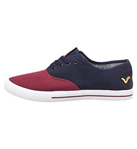 Voi Jeans Boys Navy/Burgundy Bushnell Canvas Shoes