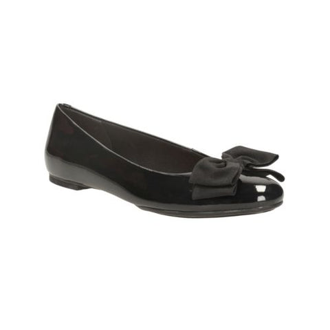 Clarks Alicia Allie Black Ballet Womens Flats