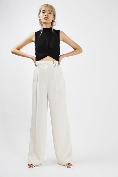 Topshop Petite Girls Twist Front Crop Top