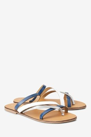 Next Navy Strappy Girl's/Women's Sandals