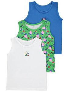 George 3 Pack Peppa Pig George Vests - Stockpoint Apparel Outlet
