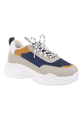 Peacocks Navy Chunky Womens Trainers