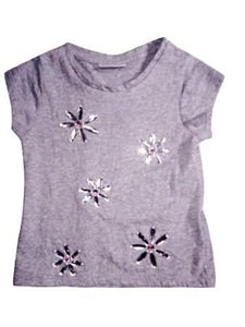 Matalan Girls Grey Beaded T-Shirt