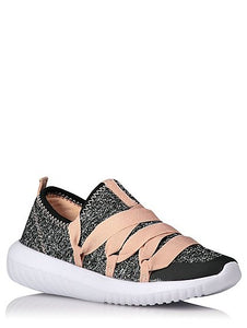 George Girls Shimmering Sporty Lace Up Trainers