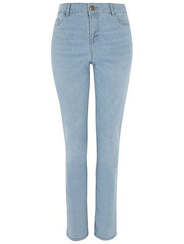 George Womens Straight Leg Light Wash Jeans