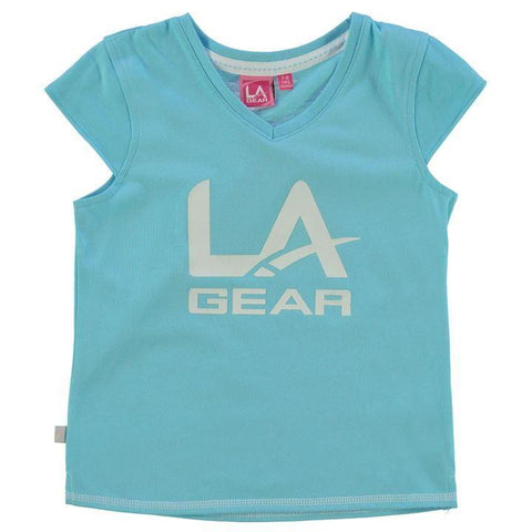LA Gear Girls Large Logo V Neck T-Shirt