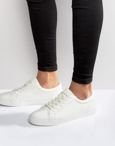Asos Design Boys/Mens trainers in white