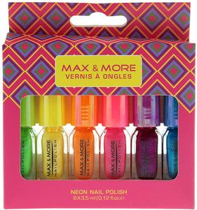 Max & More 6 x 3.5ml Neon Nail Polish Set by Vernis A Ongles - Stockpoint Apparel Outlet