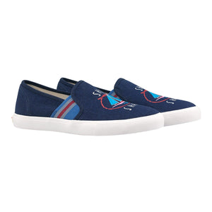Cath Kidston Womens/Girls Whitby Waters Ship Shape Slip On Trainer