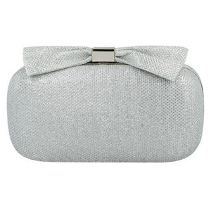 Ella Womens Silver Clutch Bag
