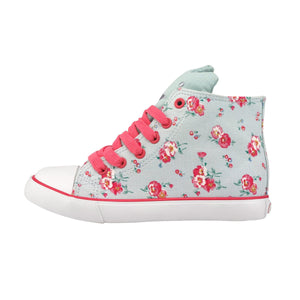 Cath Kidston Girls Pansies Mini Kids Novelty High Top Trainer