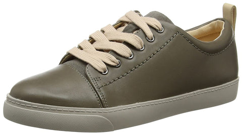 Clarks Glove Echo Grey Leather Women Sneakers - Stockpoint Apparel Outlet