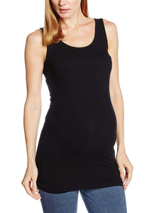 Dorothy Perkins Womens Maternity Sleeveless Ribbed Black Tank Top