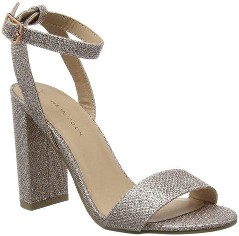 New Look Shika 2 Womens Rose Gold Ankle Strap Heels