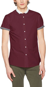 New Look Men's Hopsack Casual Shirt