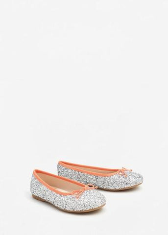 Mango Girls Zapato Glitter Ballerina Shoes