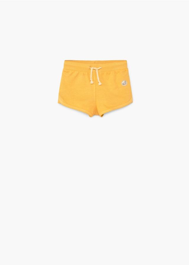 Mango Baby Girls Yellow Cotton Jogging Short - Stockpoint Apparel Outlet