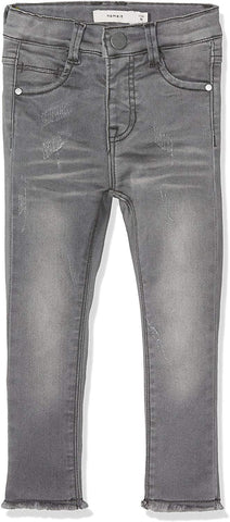 Name It Girls Nittelsy Dark Grey Denim Pant Mini Noos Skinny Jeans