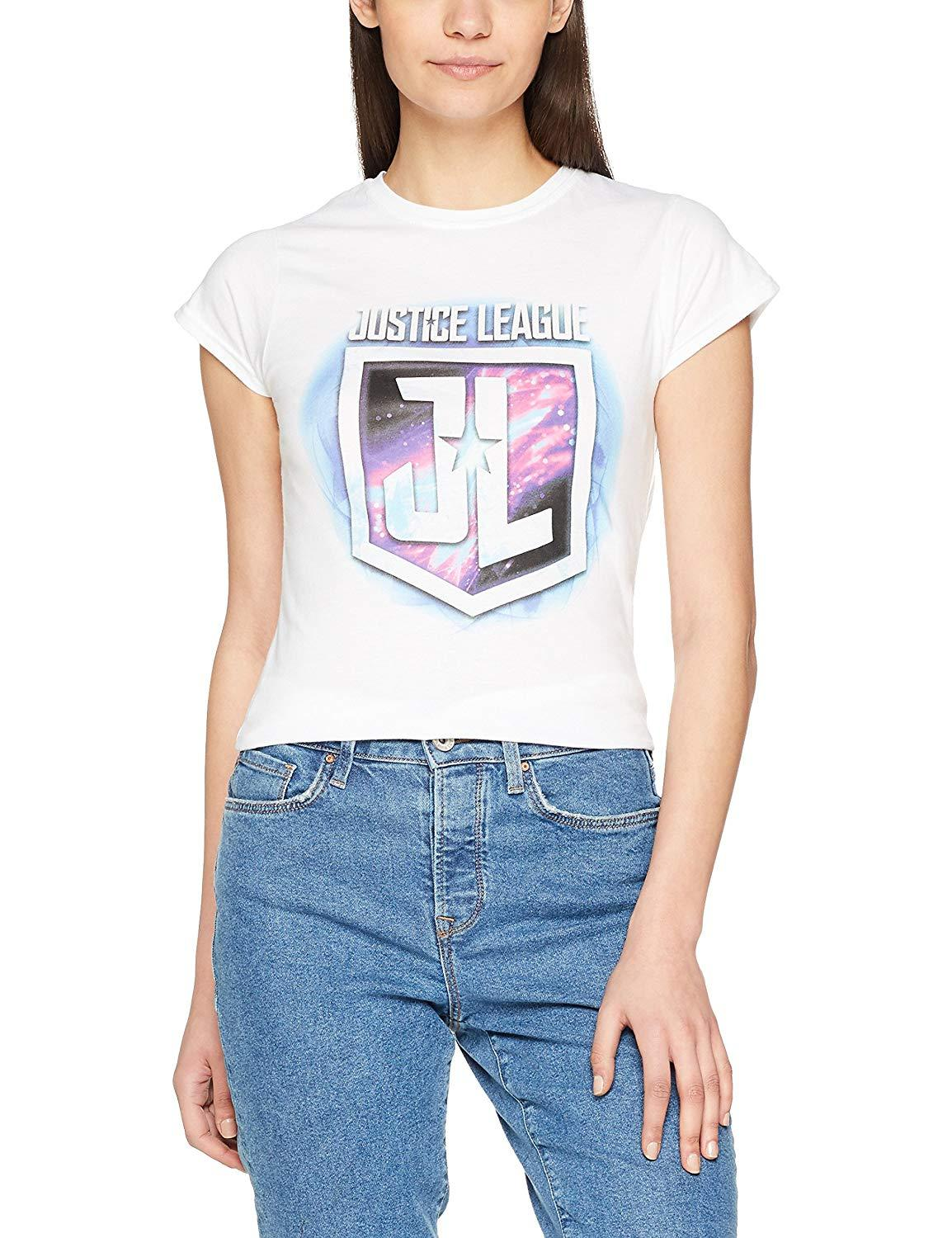 CID Womens Justice League Movie Purple Shield T-Shirt