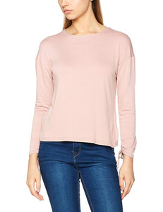 New Look Womens Ruche Pink Long Sleeve Top