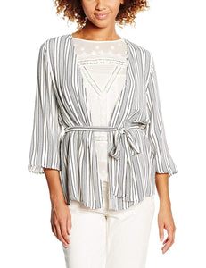 New Look Womens Alfie Striped Belted Kimono