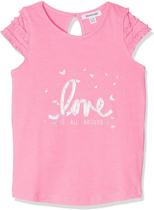 3 Pommes Sweetness Baby Girls Pink T-Shirt
