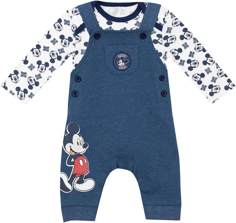 Disney Mickey Mouse Bodysuit & Dungarees Baby Boys Set - Stockpoint Apparel Outlet