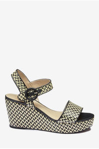Next Monochrome Patterned Womens Wedges