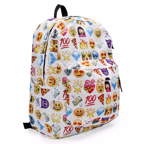 Emoji White School Backpack