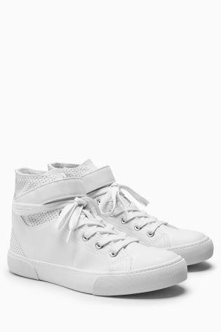 Next Womens White Leather Hi-tops