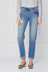 Next Embroidered Blue Jeans - Stockpoint Apparel Outlet
