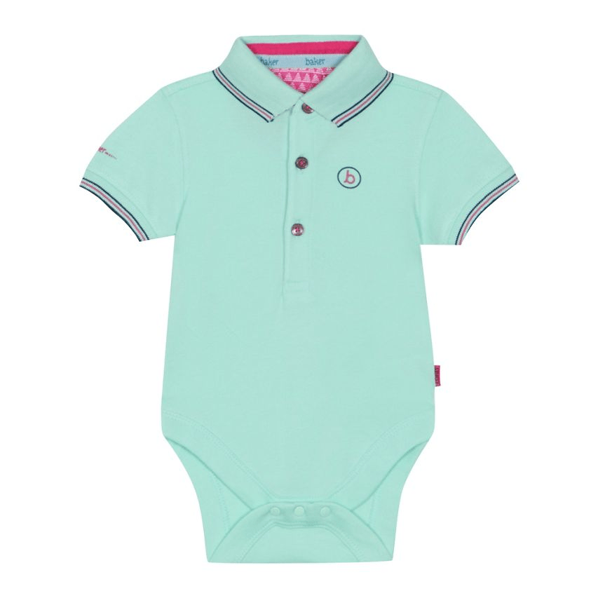 453d46e8bfd40 Baker by Ted Baker Baby Boys Green Pique Bodysuit – Stockpoint ...