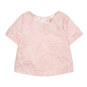Ted Baker Girls Light Pink Floral Lace Top