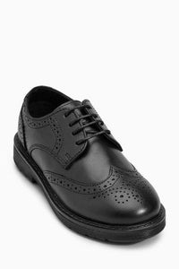 Next Boys Black Chunky Brogues Shoes