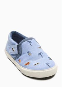 Next Baby Boys Blue Embroidery Slip-on