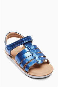 Next Baby Girls Blue Metallic Fisherman Sandals