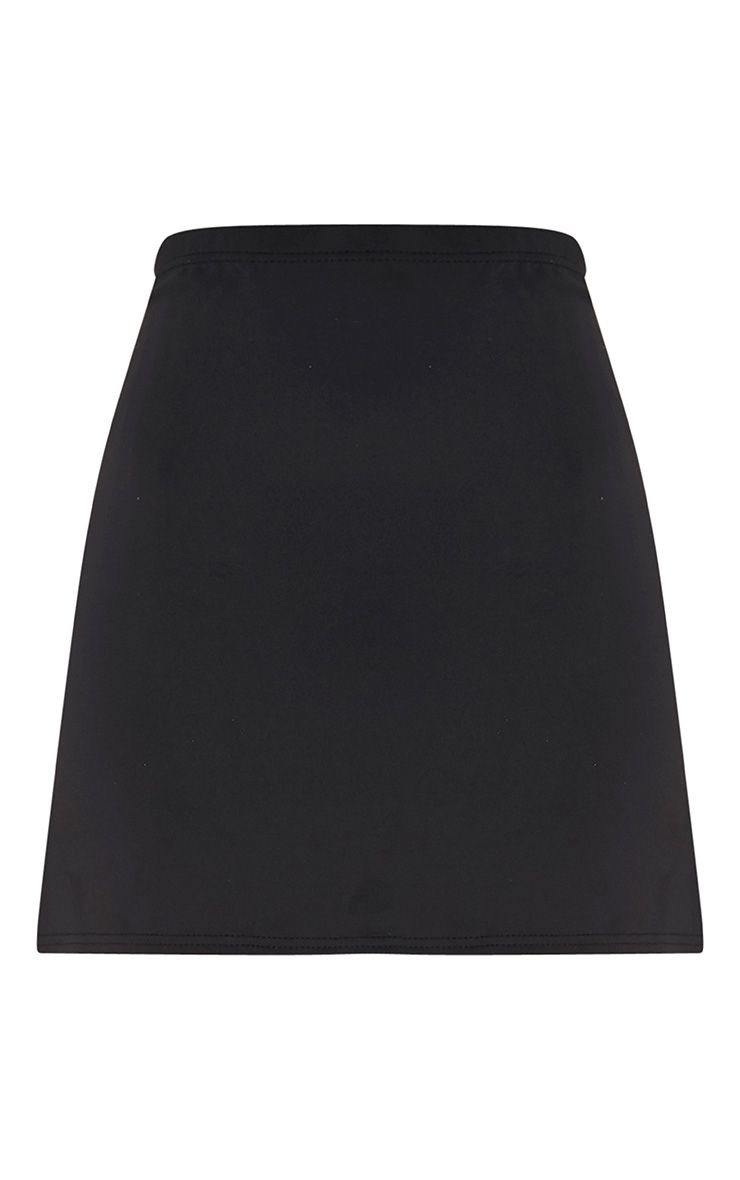 PrettyLittleThing Womens Jessica Black A-line Mini Skirt - Stockpoint Apparel Outlet