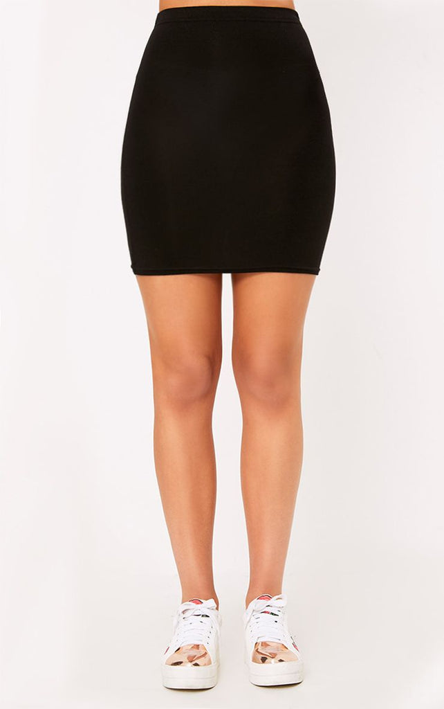 bd8a9863c PrettyLittleThing Womens Basic Black Jersey Mini Skirt – Stockpoint ...