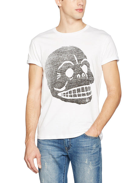 Cheap Monday Mens Standard Tee Filled Skull T-Shirt