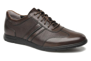 Clarks Mens Denner Race Walnut Leather Shoes