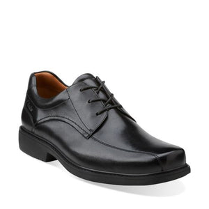 Clarks Mens Gatewood Over Black Leather Shoes