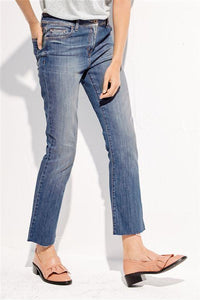 Next Blue Cropped Mid Blue Womens Jeans