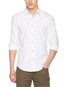 Cross Jeans Mens White Fitted Casual Shirt