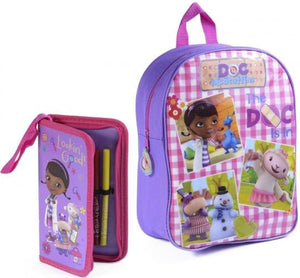 Disney Doc McStuffins School Bag Includes a FREE Pencil Case