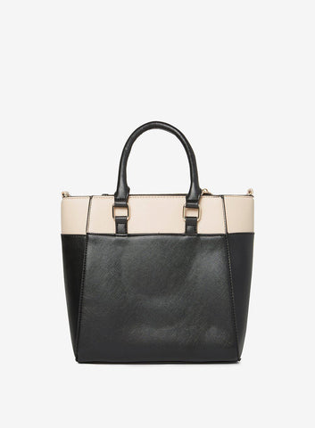 Dorothy Perkins Black Mini Colour Block Womens Tote Bag